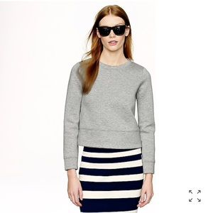 J. Crew Cropped surf sweatshirt in Grey